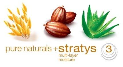 Pure naturals plus strays multi-layer moisture.