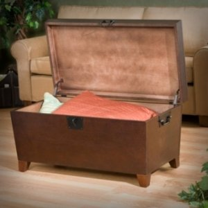 New The Storage Trunk Coffee Table ships in one carton and requires assembly