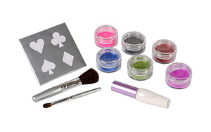 Tulip Body Art Classic Glitter Tattoo Kit Contents