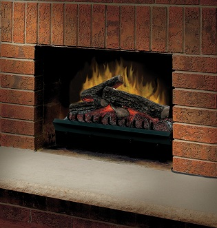 electric flame fireplace insert fake wood burning mantel