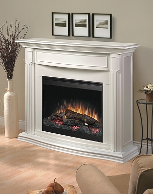 Electric Fireplace Mantle With Firebox Classic White