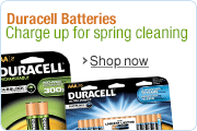 Spring Clean with Duracell