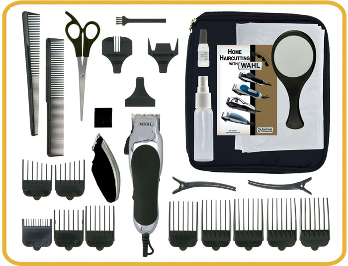 wahl 79524 1001 deluxe chrome pro with multi cut clipper trimmer 27 pieces. Black Bedroom Furniture Sets. Home Design Ideas