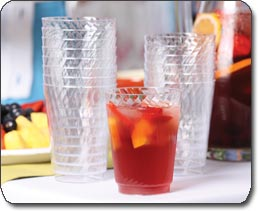 Chinet Cut Crystal Tumblers (9-Ounce), 100-Count Tumblers | Cheap Chinet