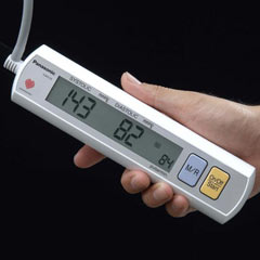 Panasonic's EW3109W Upper Arm Blood Pressure Monitor is Slim and Easily Portable