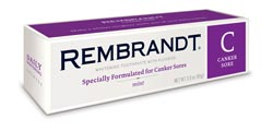 REMBRANDT Canker Sore Toothpaste (Mint), 3-Ounce (Pack of 3) Product Shot
