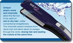 Remington Wet2Straight 2-Inch Wide Plate Wet/Dry Straightening Iron