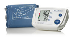 LifeSource Advanced One Step Auto Inflate Blood Pressure Monitor with Large Cuff (UA-767PVL) Product Shot