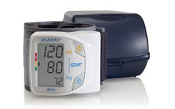 LifeSource Advanced Memory Wrist Auto Inflate Blood Pressure Monitor (UB-512) Product Shot