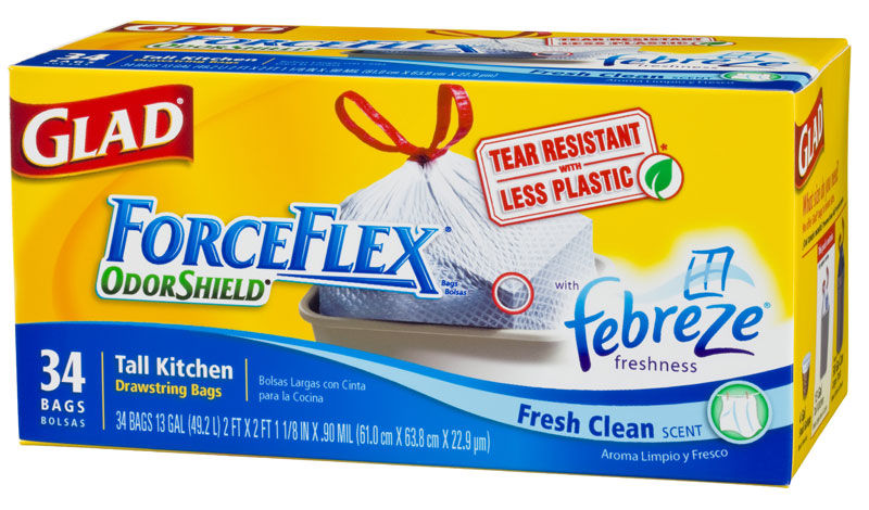 image about Glad Trash Bag Printable Coupons named Melissas Coupon Reductions: HEB~ Contented ForceFlex Trash Baggage $6.92
