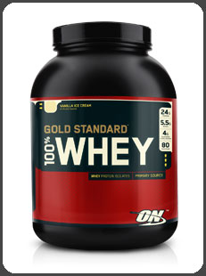 Optimum Nutrition GOLD STANDARD 100% WHEY, Vanilla Ice Cream