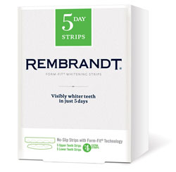 REMBRANDT FORM-FIT Whitening Strips (Five-Count for Upper, Five-Count for Lower) Product Shot