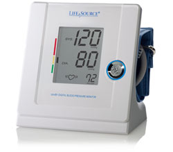 LifeSource Advanced Blood Pressure Monitor Multi-Function Automatic, Medium Cuff (UA-851V) Product Shot