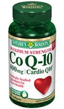 Nature's Bounty Maximum Strength Co Q-10 400 mg Cardio Q10 (30 + 9 Bonus Softgels)