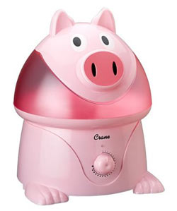 Crane Ultrasonic Cool Mist Humidifier, Pig (1 Gallon)