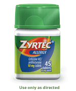 Zyrtec Allergy Relief Tablets