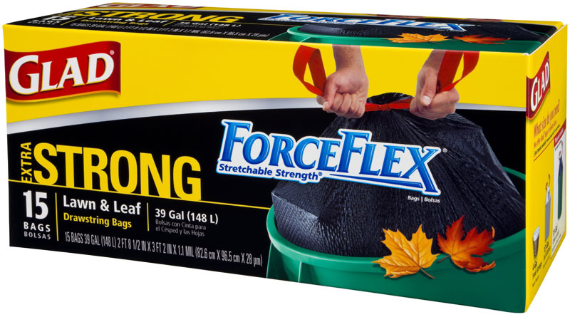 Glad Forceflex Extra Strong Outdoor Lawn And