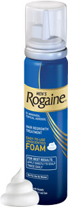 ROGAINE  for  Men  Hair  Regrowth  Treatment,  Easy-to-Use  Foam  (Three-month  Supply  of  Three  2.11-ounce  Cans)  feature