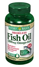 Nature's Bounty Odorless Fish Oil 1200 mg Omega-3 and Omega-6 (60 Softgels)