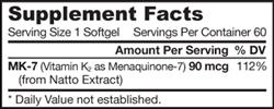 Jarrow Formulas MK-7, 60 Softgels Product Shot