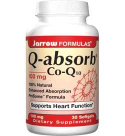 Jarrow Formulas Q-Absorb Co-Q10, 100mg, 30 Softgels Product Shot