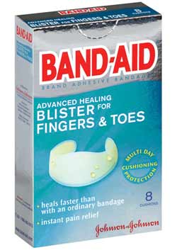 BAND-AID Brand Adhesive Bandages, Advanced Healing Blister Cushions for Fingers & Toes (8-Count Boxes, Pack of 2) Product Shot