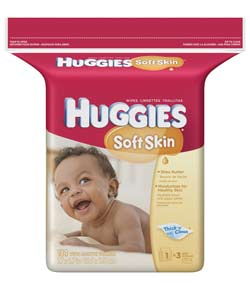 HUGGIES Soft Skin Shea Butter Baby Wipes Popup Refill, 184-Count Pack (Pack of 3) Product Shot