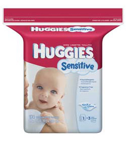 HUGGIES Gentle Care Sensitive Baby Wipes Popup Refill, 184-Count Pack (Pack of 3) Product Shot