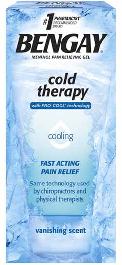 BENGAY Cold Therapy Menthol Pain Relieving Gel with PRO-COOL Technology (4-Ounce Tubes, Pack of Three) Product Shot