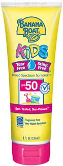 Banana Boat Kids Sunblock Tear-Free Lotion SPF 50, 8 fluid ounces Product Shot