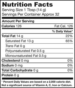 Jarrow Formulas Coconut Oil 100 Percent Organic, 16 Ounce Product Shot