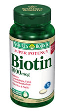Nature's Bounty Super Potency Biotin 5000 mcg (60 Softgels)