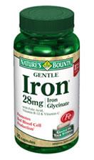 Nature's Bounty Gentle Iron 28 mg (90 Capsules)