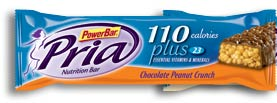 PowerBar Pria 110 Plus Nutrition Bar, Chocolate Peanut Crunch (Pack of 30)