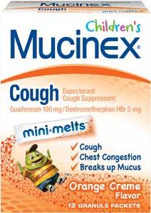 Children's Mucinex Cough Mini-Melts Product Shot