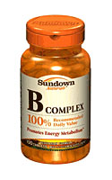Sundown Naturals B-Complex 100 RDV (100 Tablets)