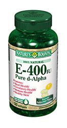 Nature's Bounty E-400 IU Pure d-Alpha (120 Softgels)