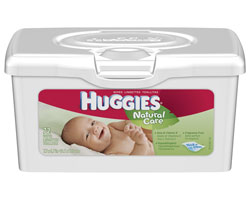 HUGGIES Natural Care Baby Wipes, Fragrance Free, 72-Count Tubs, (Pack of 8) Product Shot
