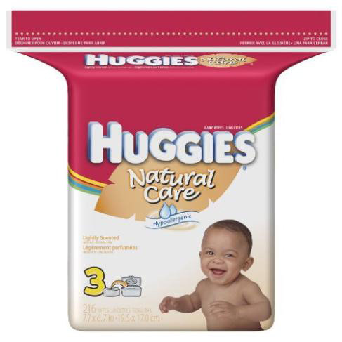 Huggies Natural Care 64 Wipes Cars