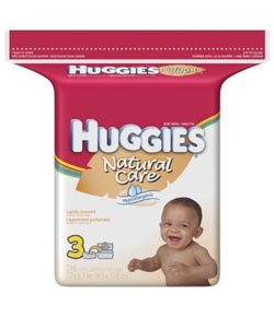 HUGGIES Natural Care Baby Wipes, Scented, Popup Refill, 216-Count Pack (Pack of 3) Product Shot