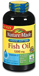 Nature Made Fish Oil (300 softgels, 1200 mg/each) Product Shot