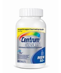 Centrum Men's 50+ Multivitamin, 200 Count Bottle Product Shot