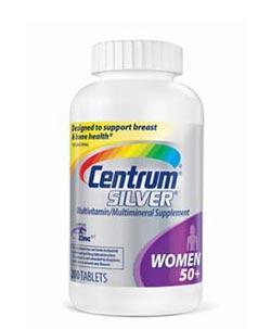 Centrum Women's 50+ Multivitamin, 200 Count Bottle Product Shot