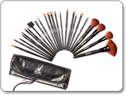 SHANY Studio-Quality Natural Cosmetic Brush Set with Leather Pouch Product Shot
