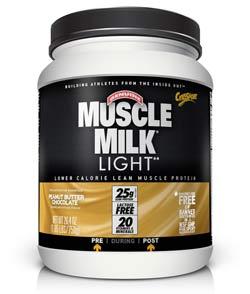 CytoSport Muscle Milk Light Peanut Butter Chocolate (1.65 pounds) Product Shot