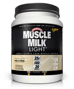 CytoSport Muscle Milk Light Vanilla Creme (1.65 pounds) Product Shot