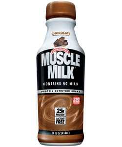 CytoSport Muscle Milk Ready-to-Drink Chocolate (12-Pack of 14-Ounce Bottles, 25-Grams/Each) Product Shot