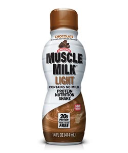 CytoSport Muscle Milk Light Ready-to-Drink Chocolate Shake (12-pack of 14-ounce shakes) Product Shot
