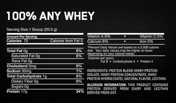 Amazon Com Optimum Nutrition 100 Any Whey Instantized
