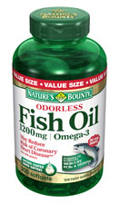 Nature's Bounty Odorless Fish Oil 1000 mg (200 Softgels)